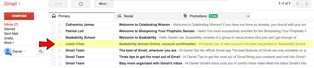 3-Check email
