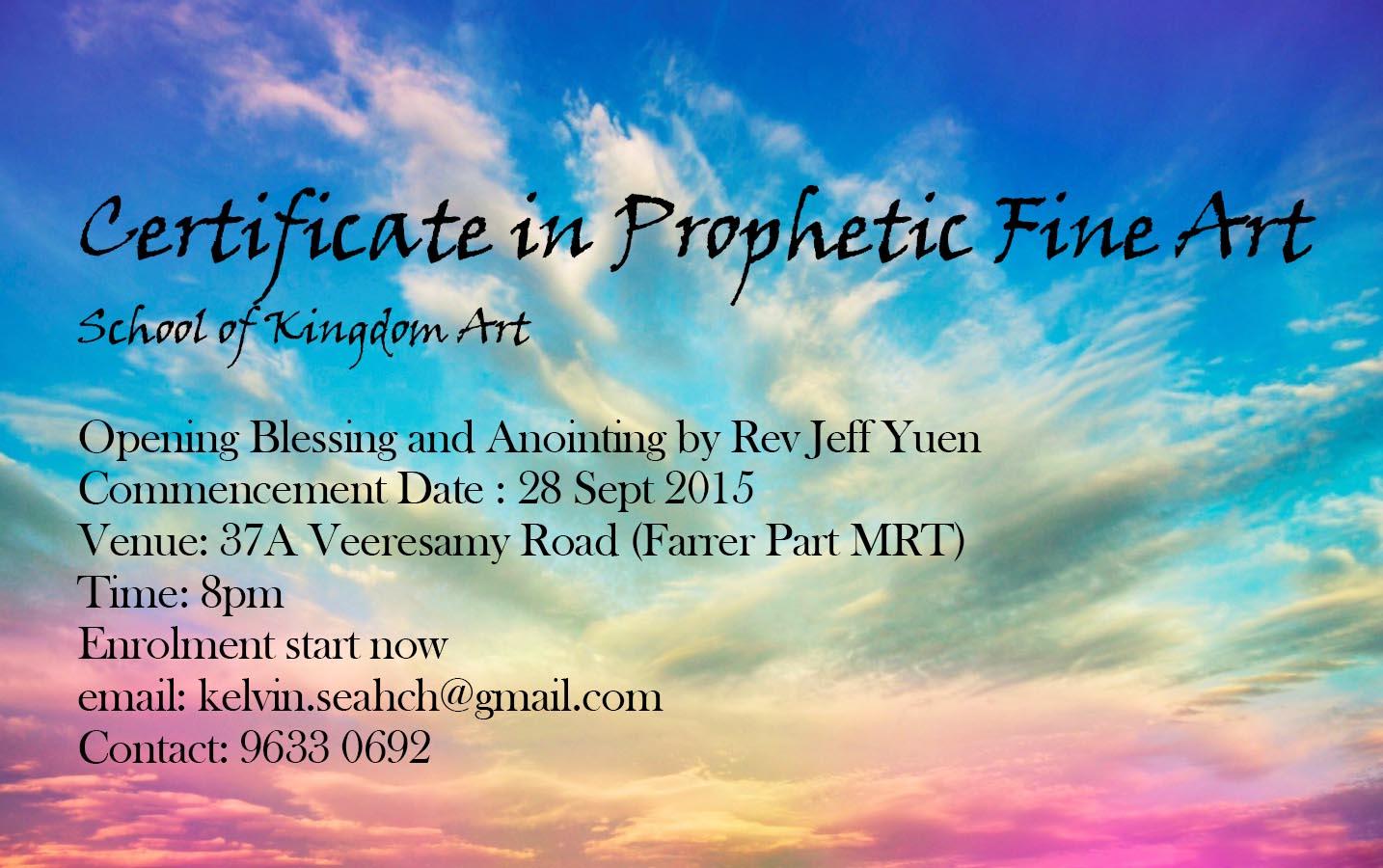 Certificate in Prophetic Fine Arts Course – Soakability